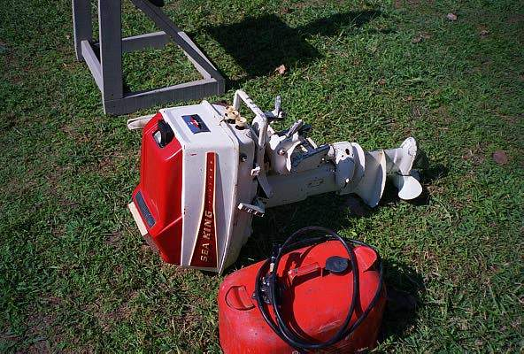 Very Clean Lo Ng Early 60s Omc Built Montgomery Ward Sea King 15 Hp It Sold Quickly At 100 But Had Aed Lower Unit Patched With Epoxy