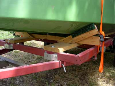 How to build bunks for a boat trailer
