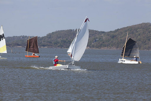 homemade boats at the sail Oklahoma regatta