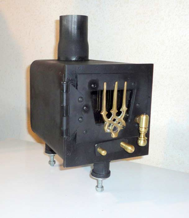 6 inches wide by 6 inches high (excluding feet) by 8 inches deep - Duckworks - Homemade Wood Stove For A Small Boat