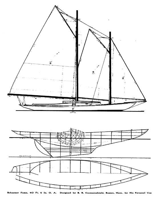 schooner  Famelines